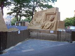 Sand sculptures near the Binnenhof in The Hague