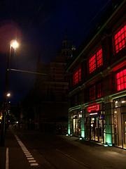 View on Riviervismarkt from tram stop 'Gravenstraat'